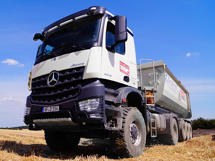 Kipp-LKW für 25 Tonnen